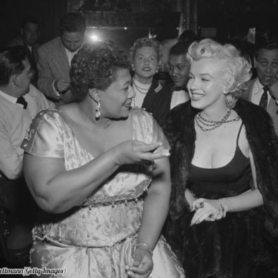 Ella Fitzgerald and Marilyn Monroe pictured at Mocambo nightclub in the 1950s | 60 Plus Club