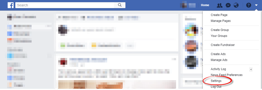Export your Facebook data - Step 1