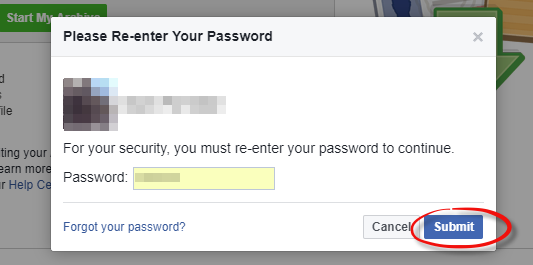 Export your Facebook data - Step 4
