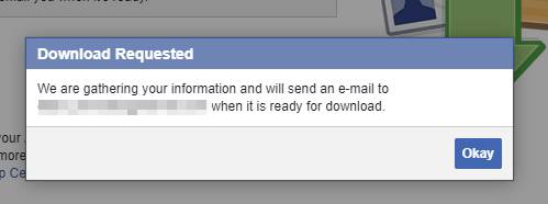 Export your Facebook data - Step 6