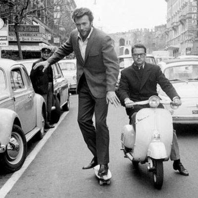 Flashback - Clint Eastwood skateboarding in Rome. 1965 | 60 Plus Club